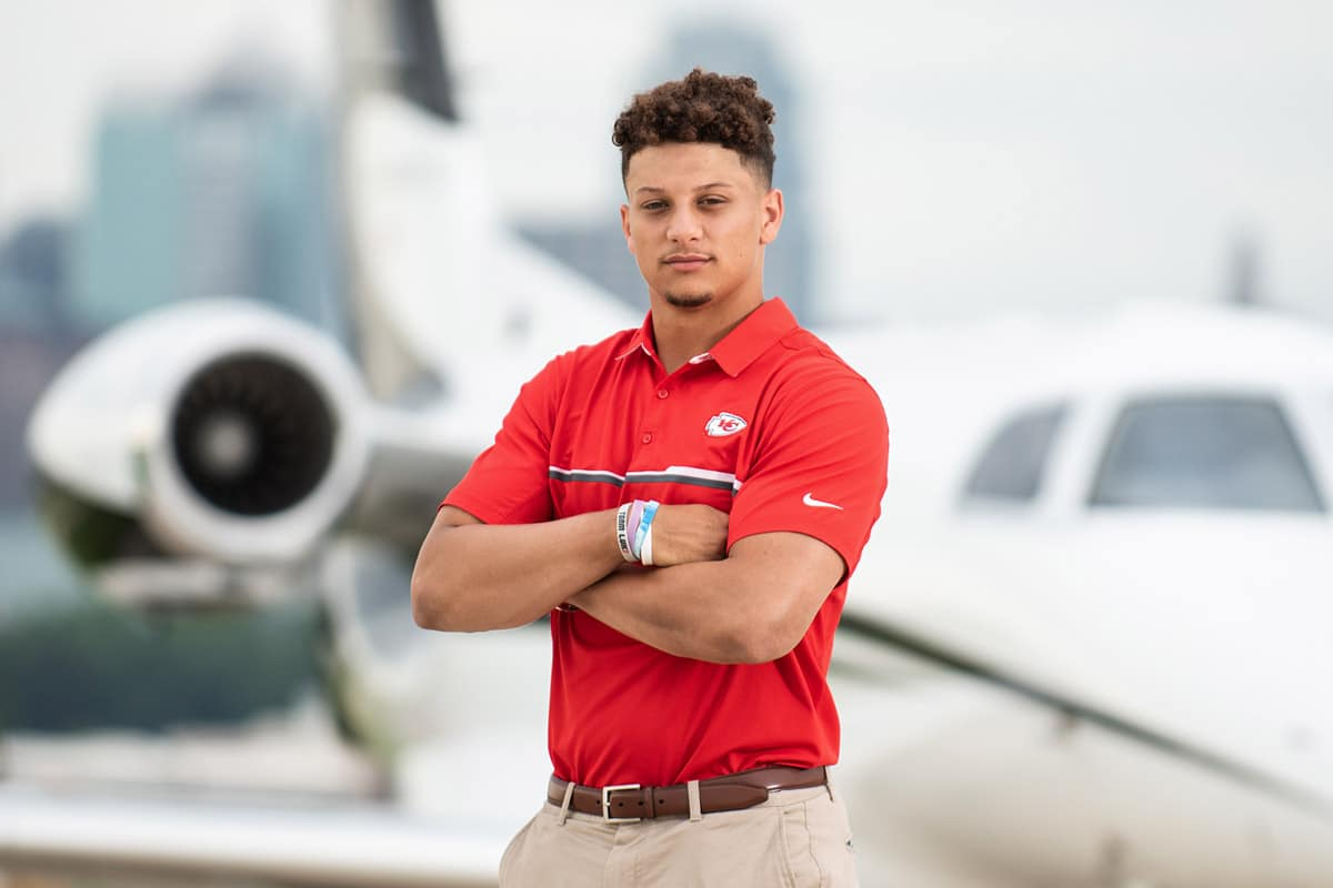 Airshare customer, Patrick Mahomes, discusses how private jet travel helps him be more efficient.