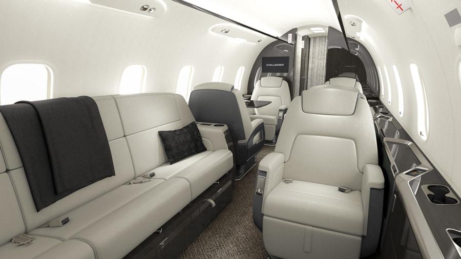 Airshare Challenger 350 Interior Rendering