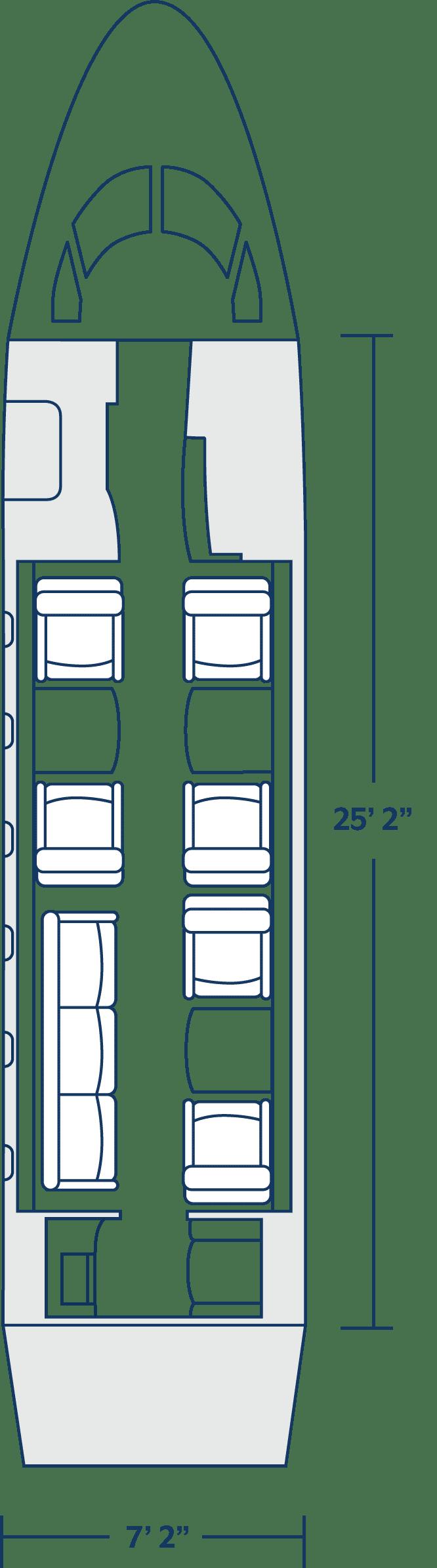 Challenger 350 Cabin Configuration